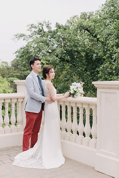 bride and groom during portrait session
