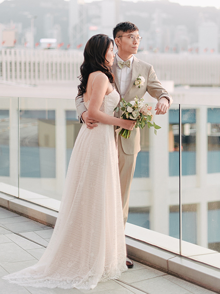 bride smiling during wedding day